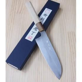 Couteau japonais Santoku - MIURA - Série Carbon White 2 - Dimension: 17cm