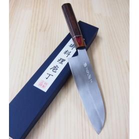Couteau japonais Santoku - MIURA - Série Carbon White 2 Personnalisé - Dimension: 17cm