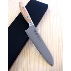 Couteau japonais Santoku (petit) - YAXELL - Série YO-U Bianco - Acier VG10 - Dimension: 14,5cm