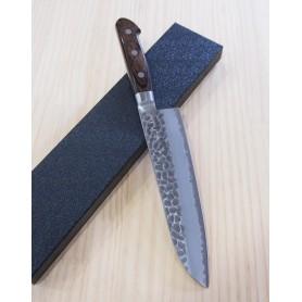 Couteau japonais Santoku - HOKIYAMA - Série Tosa-ichi Bright - Super Blue Steel - Dimension: 18cm