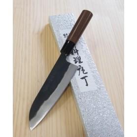 Faca japonesa santoku YAMAMOTO HAMONO Blue steel tam:16,5cm