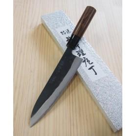 Faca japonesa do chef gyuto YAMAMOTO HAMONO Blue steel tam:18cm