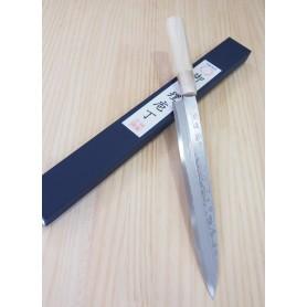 Faca japonesa deba MIURA Série bessaku blue steel damascus - Tam:24/27cm