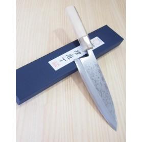 Faca japonesa deba MIURA Série bessaku blue steel damascus - Tam:15/18cm