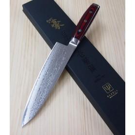 Faca japonesa do Chef YAXELL - série Super Gou - aço damasco 161 camadas - Tam: 20cm