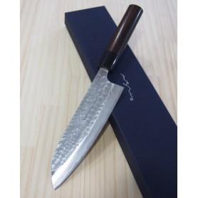 Faca japonesa santoku ANRYU Série aogami tsuchime Tam:16,5cm
