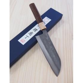 Faca japonesa santoku MIURA -Série blue steel nashiji- Tam:16,5cm