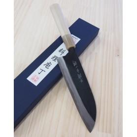 Couteau japonais Santoku - MIURA - Série Carbon White 1 - Black Finish - Dimension: 18cm