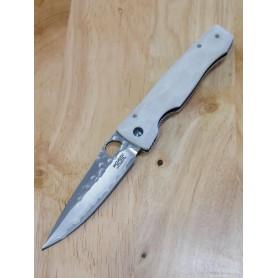 Couteau de poche - Mcusta - SPG2 - Série Elite White Corian MC-0126G - Dimension: 94mm