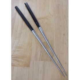 Moribashi - cabo de madeira polígono - Aço inox honyaki - Tam: 29/32cmcm