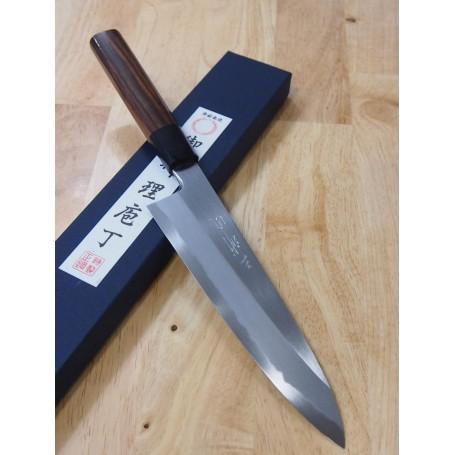 Couteau Japonais de Chef Gyuto pour droitiers - MIURA - Série Itadaki - Rosewood - Dimension: 21 / 24cm